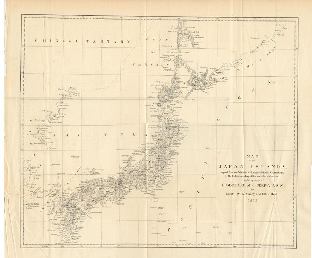 Map of Japan Islands, Volume 1, Map (lithograph)