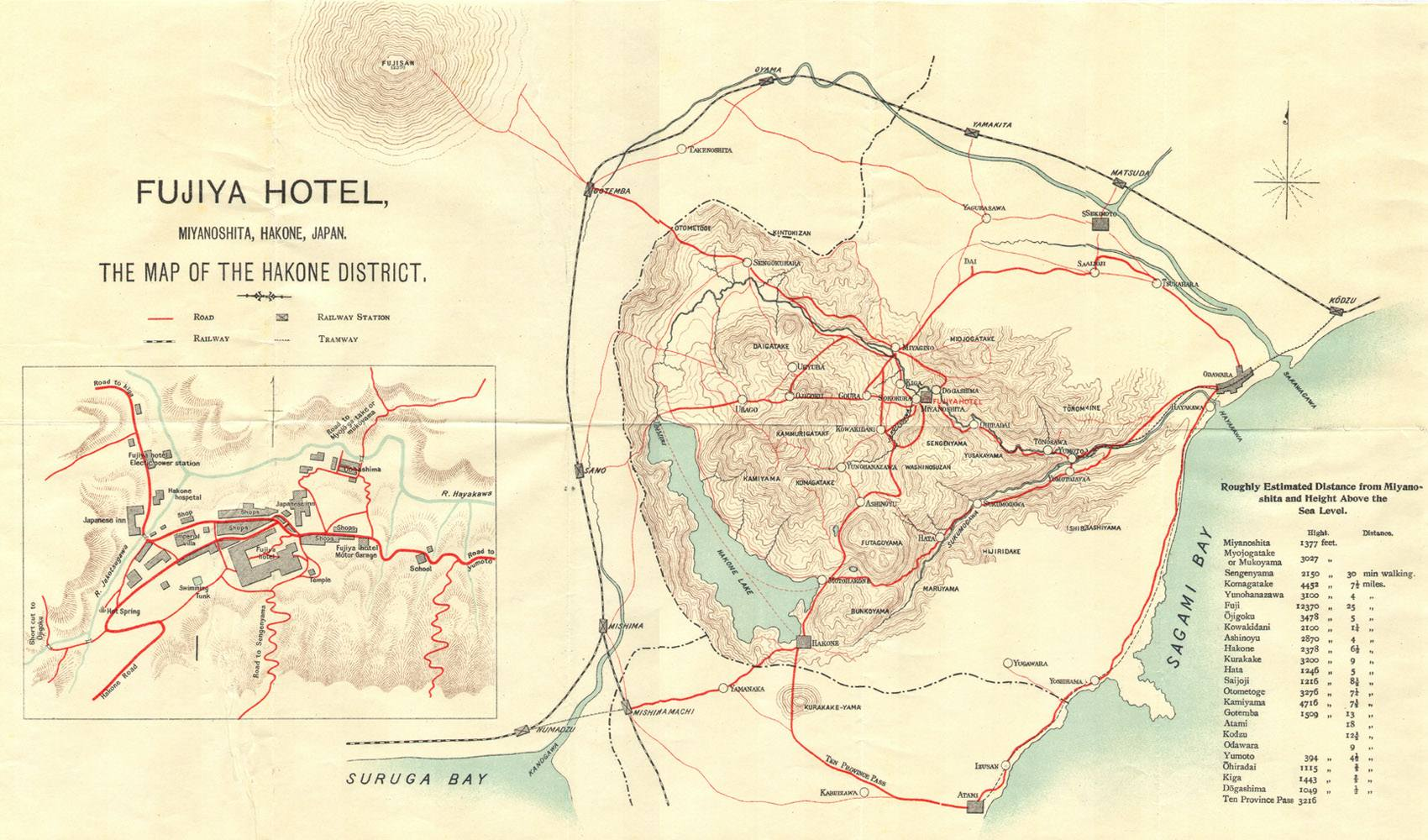 Book Fujiya Hotel Miyanoshita Japan C Guide - Japan map 1920