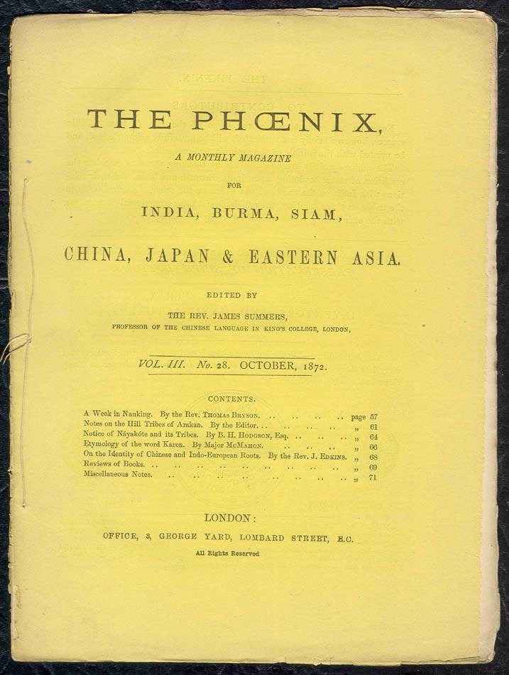 The Phoenix, Edited by James Summers, Volume III, No. 28, October 1872