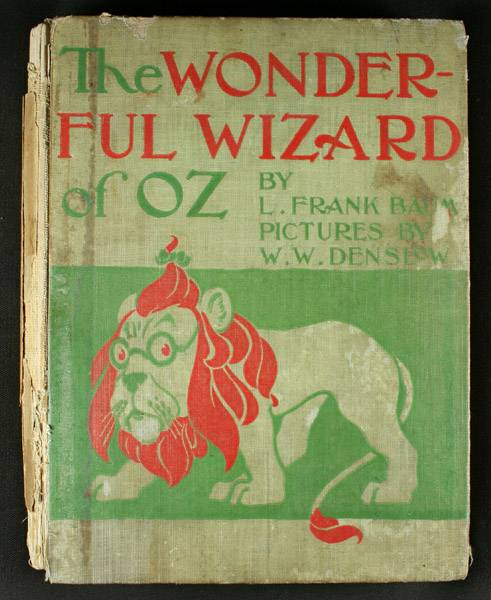 The wonderful wizard of oz. First edition, chicago, 1900. By baum.