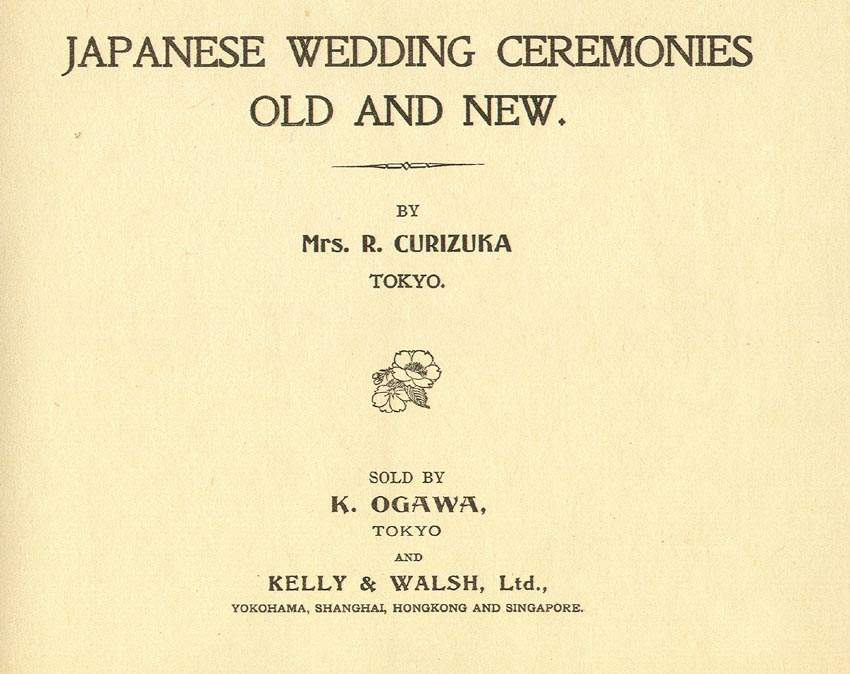 japanese wedding ceremonies old and new by mrs r rio curizuka